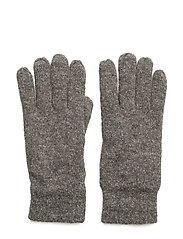 COTTON/WOOL GLOVES - DARK GREY MELANGE