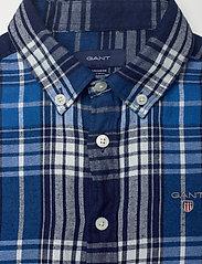 GANT - D1. FLANNEL INDIGO CHECK SHIRT - overhemden - strong blue - 2