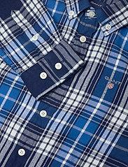 GANT - D1. FLANNEL INDIGO CHECK SHIRT - overhemden - strong blue - 3