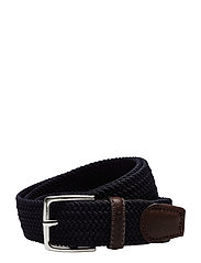 ELASTIC BRAID BELT - MARINE