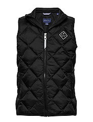 D1. DIAMOND PUFFER VEST - BLACK