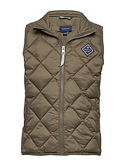 D1. DIAMOND PUFFER VEST - SEA TURTLE