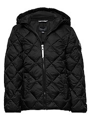 D1. THE LT WEIGHT DIAMOND PUFFER - BLACK