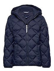 D1. THE LT WEIGHT DIAMOND PUFFER - EVENING BLUE