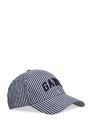 O2. STRIPED CAP - DARK BLUE WORN IN
