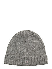 WOOL LINED BEANIE - DARK GREY MELANGE