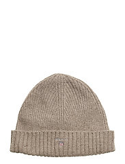 WOOL LINED BEANIE - DESERT BROWN