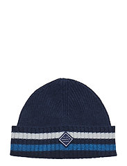 O1. RIB KNIT HAT - PERSIAN BLUE
