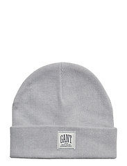 O1. SOLID KNIT HAT - LIGHT GREY MELANGE