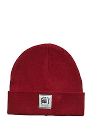 O1. SOLID KNIT HAT - MAHOGNY RED