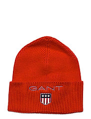 D1. MEDIUM SHIELD RIB BEANIE - ATOMIC ORANGE
