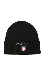 D1. MEDIUM SHIELD RIB BEANIE - BLACK