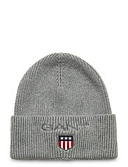 D1. MEDIUM SHIELD RIB BEANIE - LIGHT GREY MELANGE