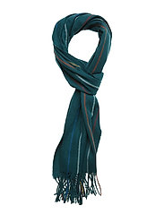 O1. STRIPED LAMBSWOOL SCARF - PONDEROSA PINE