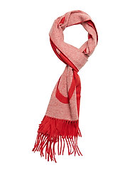 D1. LOGO WOOL SCARF - BRIGHT RED