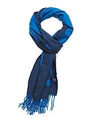D1. LOGO WOOL SCARF - LAPIS BLUE