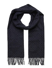 D1. ICON G WOOL SCARF - NAVY