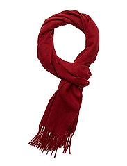 SOLID WOOL SCARF - MAHOGNY RED