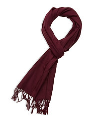 SOLID WOOL SCARF - PORT RED