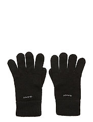 KNITTED WOOL GLOVES - BLACK