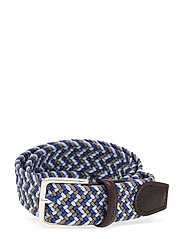 D1. PATTERNED ELASTIC BRAID BELT - CRISP BLUE