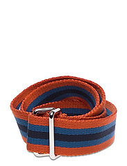 D1. RUGBY STRIPE WEBBING BELT - DARK ORANGE