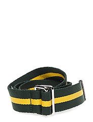 D1. RUGBY STRIPE WEBBING BELT - KELLY GREEN