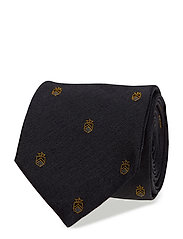 O1. VARSITY SHIELD TIE - CHARCOAL MELANGE