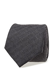 O1. HERRINGBONE TIE - DARK GREY MELANGE