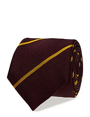 O1. BRETON STRIPE TIE - PURPLE WINE
