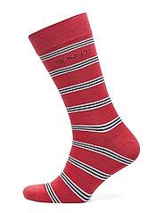 D1. REGIMENTAL STRIPE SOCKS - CARDINAL RED