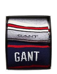 GANT - D1. STRIPE AND LOGO SOCK GIFTBOX - chaussettes régulières - persian blue - 0