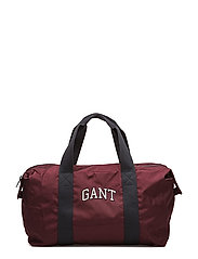 O1. GANT DUFFLE BAG - PURPLE WINE