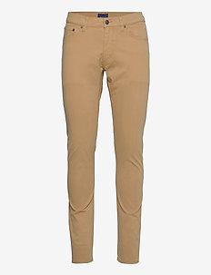 D1. TAPERED SATIN JEANS - slim jeans - dark khaki