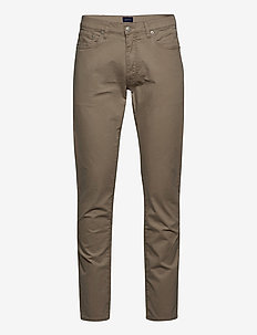 D2. SLIM DUSTY TWILL JEANS - DARK KHAKI
