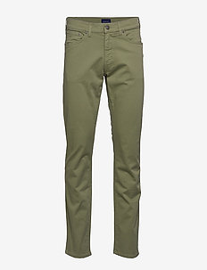 REGULAR DESERT JEANS - LODEN GREEN