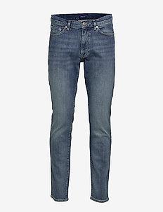 SLIM GANT JEANS - slim jeans - semi light blue broken in
