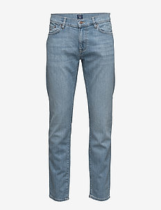 SLIM GANT JEANS - slim jeans - semi light indigo worn in