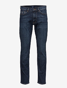 SLIM GANT JEANS - slim jeans - dark blue worn in