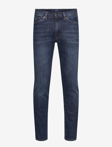 SLIM GANT JEANS - slim jeans - dark blue worn in