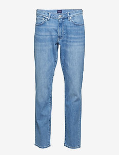 SLIM GANT JEANS - slim jeans - light blue worn in
