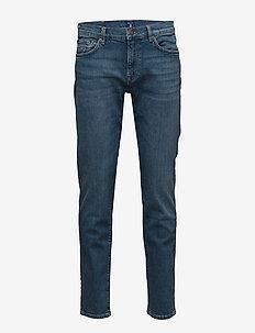 SLIM GANT JEANS - slim jeans - mid blue worn in