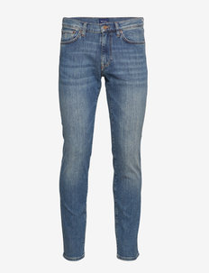 SLIM GANT JEANS - slim jeans - mid blue worn in
