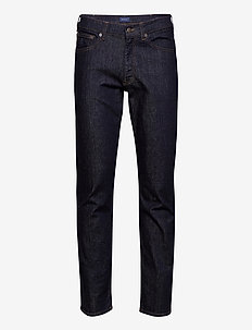 REGULAR GANT JEANS - regular jeans - dark blue