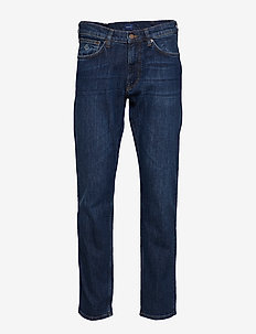 REGULAR GANT JEANS - regular jeans - dark blue worn in