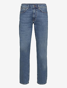 REGULAR GANT JEANS - regular jeans - mid blue worn in