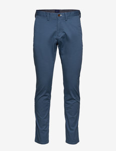 SLIM TWILL CHINOS - chinot - atlantic blue
