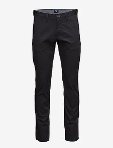 SLIM TWILL CHINOS - chinos - black