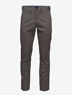 SLIM TWILL CHINOS - chinos - graphite
