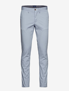 SLIM TWILL CHINOS - chinot - hamptons blue